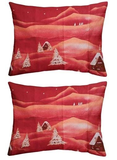 Maki Maki %100 Pamuklu Pazen Dağ Evi 2 Adet 50x70 Yastık Kılıfı Renkli